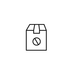 canceled delivery icon vector image
