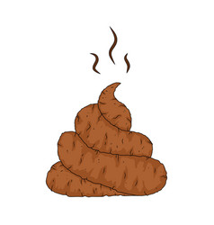Cartoon poop shit design isolated on white vector