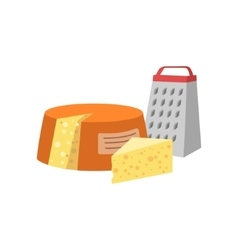 Cheese And Grinder Set Of Pizza Ingredients vector