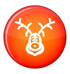 Christmas deer icon flat style vector