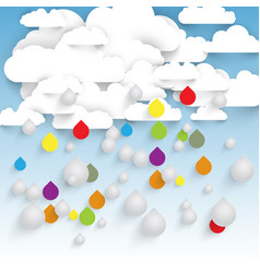 colorful rain from clouds vector image
