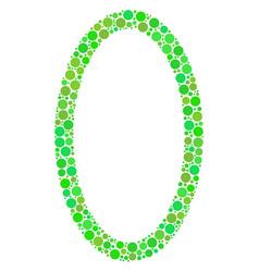 Contour ellipse mosaic of dots vector