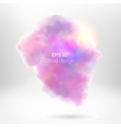 Creative cloude smoke for your design vector image