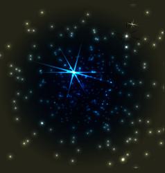 Dark sky with stars vector