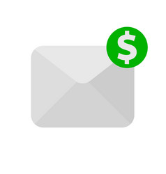 envelope with money icon vector image