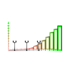 Example of business bar graph infographics bar vector