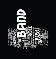 Flamboyant rock band frontmen part text vector