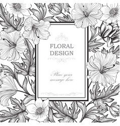 Floral background garden flower bouquet spring vector