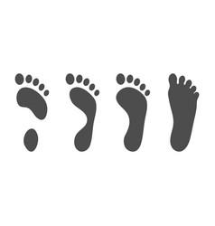 foot pathologies normal flat and hollow foot vector image