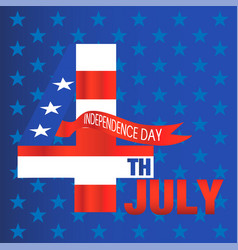 fourth of july independence day blue star backgrou vector image