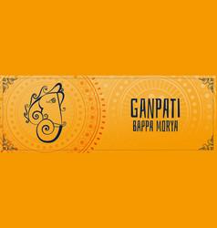 ganesh chaturthi mahotsav indian festival banner vector image