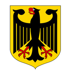 german coat arms eagle vector image