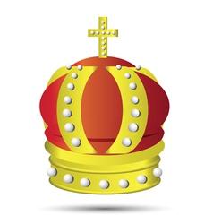 Golden crown vector