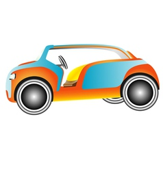 Golf car vector