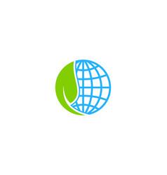 green globe logo icon design vector image