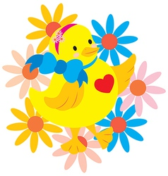 Happy Chick vector image