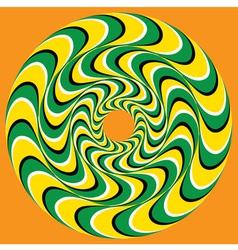 Hypnotic Swirly Sphere vector image