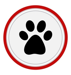 icon with the image of an animal paw vector image vector image
