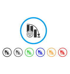iota epic fail chart rounded icon vector image