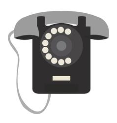 Isolated retro telephone vector