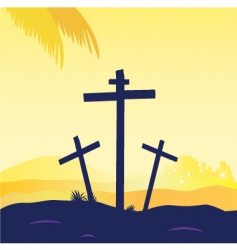 Jesus crucifixtion vector