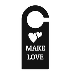 Make love room tag icon simple style vector