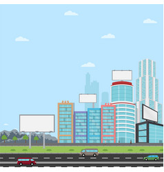 Many blank urban billboards with for your vector