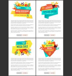 Mega discount special offer vector