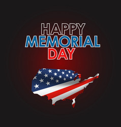 memorial day greeting banner vector image