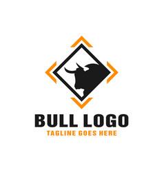 modern bull animal logo vector image