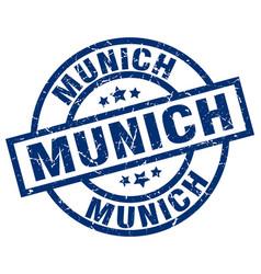 Munich blue round grunge stamp vector
