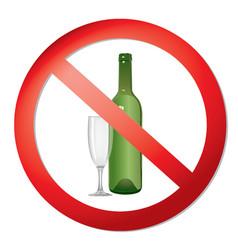 no alcohol drink sign prohibition icon ban liquor vector image