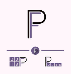 pf logo vector image