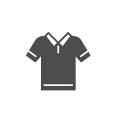 polo t-shirt glyph modern icon vector image