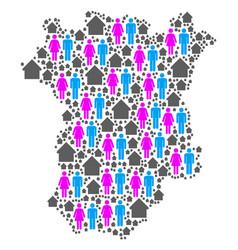 Population chechnya map vector