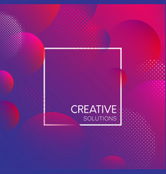 purple creative solutions background with bubbles vector image