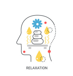 relaxation concept vector image