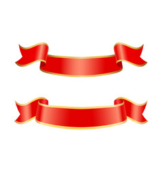 ribbon icons of banners set vector image