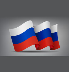 russia waving flag icon isolated official symbol vector image