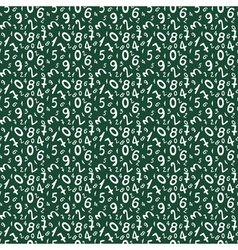 Seamless pattern with numbers for school design vector image vector image