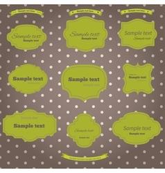 set vintage labels vector image