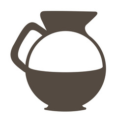 silhouette glass jar of coffee with handle vector image