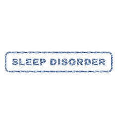 Sleep disorder textile stamp vector