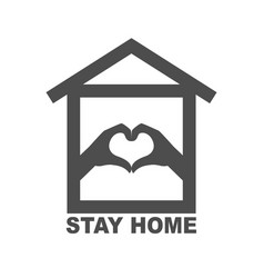 Stay home staying at home during a pandemic print vector