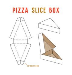 stock box for pizza slice vector image