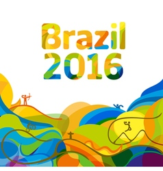 Summer color olympic games 2016 wallpaper vector