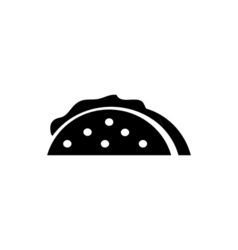 Taco Icon Flat vector image
