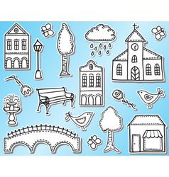 Town or city design elements vector image