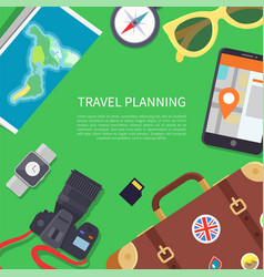 travel planning poster text vector image