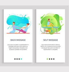 Treatment massage and stretching woman vector